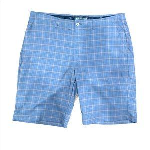 Pebble beach blue/tan plaid shorts
